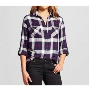 Knox rose thermal back flannel top